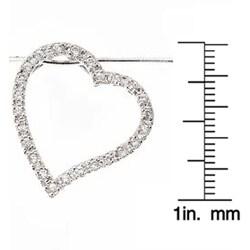 Journee Sterling Silver CZ Floating Heart Necklace