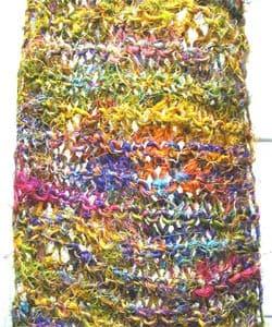 Himalayan Handmade Silk Scarf (India) - Thumbnail 2