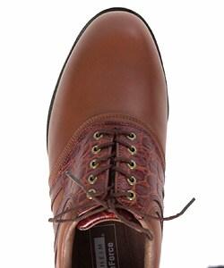 Florsheim Men's Magneforce Brown Saddle Golf Shoes - Thumbnail 2