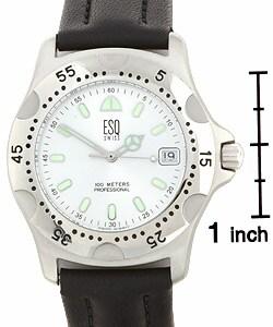 ESQ 850 SL Men's Stainless Steel Black Strap Watch - Thumbnail 2