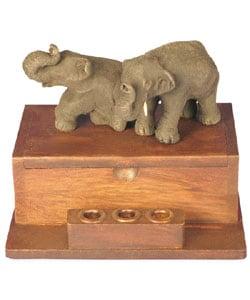Two Elephants Business Card Holder - Thumbnail 2