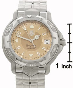 Tag Heuer 6000 Men's Copper Dial Steel Automatic Watch - Thumbnail 2