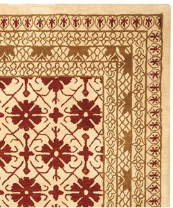 Safavieh Handmade Classic Kashan Beige Wool Rug (8'3 x 11')