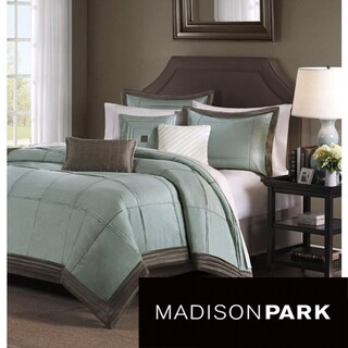 Madison Park Cascade Blue 6-piece Duvet Cover Set