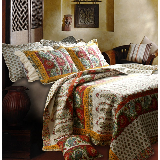 Greenland Home Fashions Marrakesh 3-Piece Quilt Set