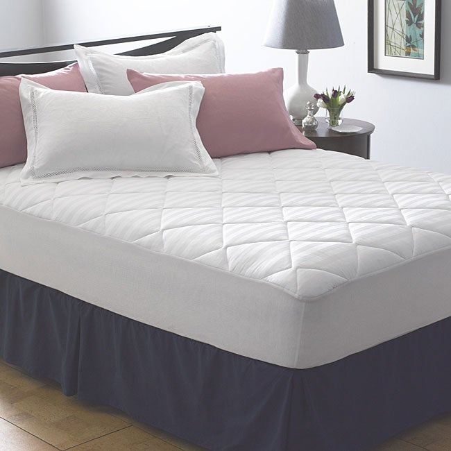 Elementa 600 Thread Count Egyptian Cotton Mattress Pad - Thumbnail 0