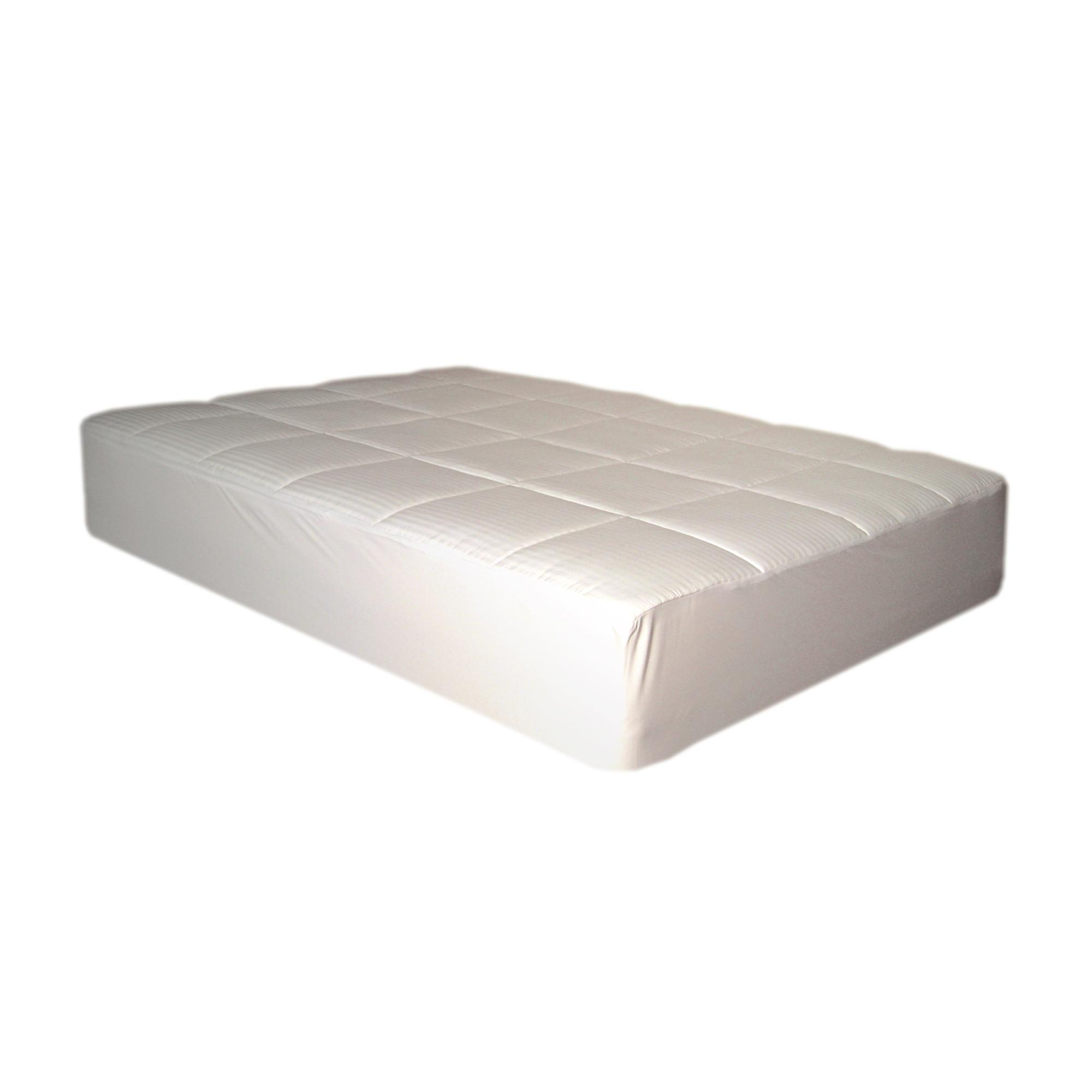 Nanofibre Water Resistant Queen/ King/ Cal King-size Mattress Pad - Thumbnail 0