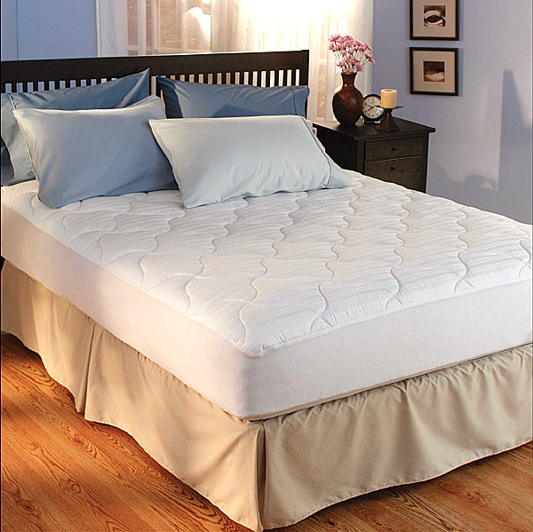 Woven Damask 360 Thread Count Mattress Pad