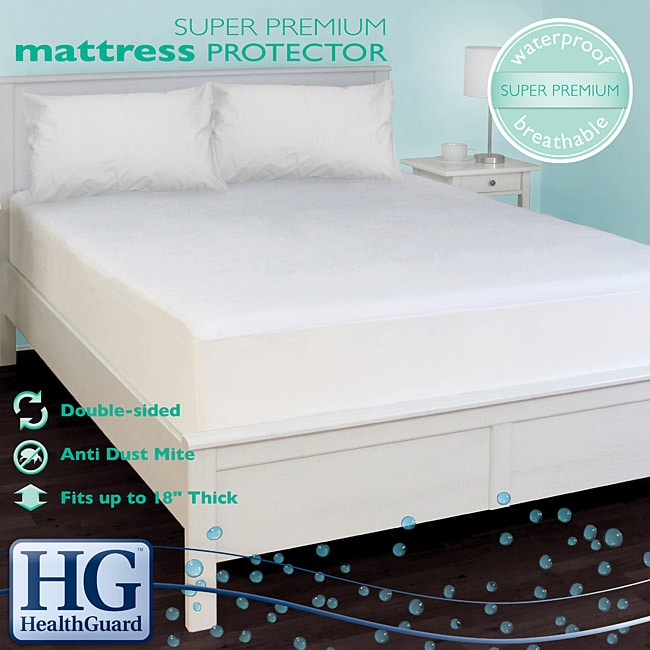 healthguard bed protector super premium queen size mattress protector free shipping today. Black Bedroom Furniture Sets. Home Design Ideas