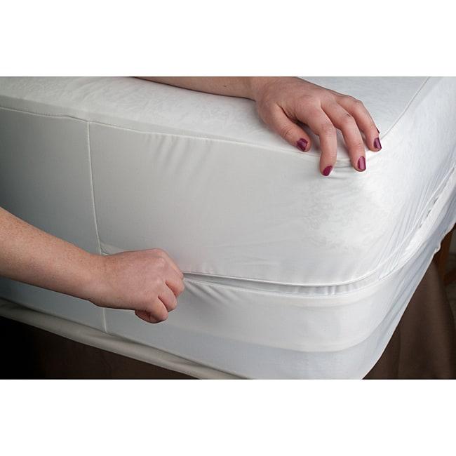 Organic Cotton Waterproof Twin-size Bed Bug Encasement Cover
