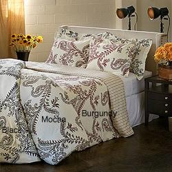 Maxine Paisley 3-piece Cotton Duvet Cover Set