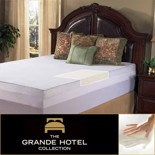 Grande Hotel Collection 4-inch Twin/ Full-size Memory Foam Mattress Topper with Egyptian Cotton Cover