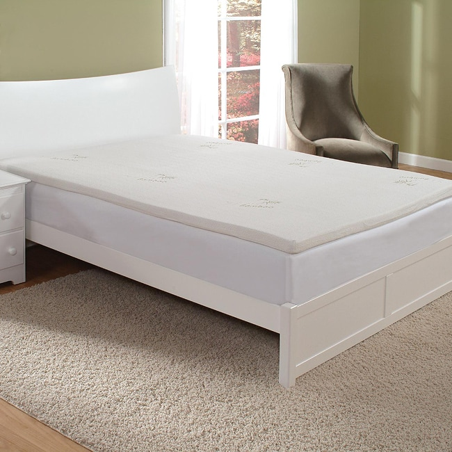 Two-inch Twin-size Memory Foam Mattress Topper with Cover