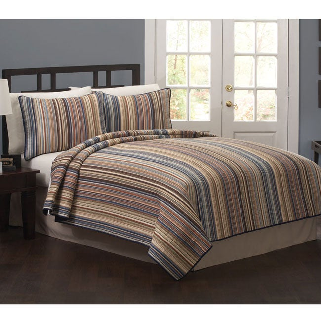 'Morning Stripe' 3-Piece Quilt Set
