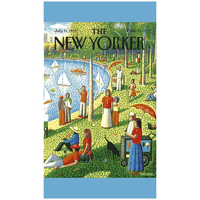 'New Yorker Central Park' Cotton Beach Towel