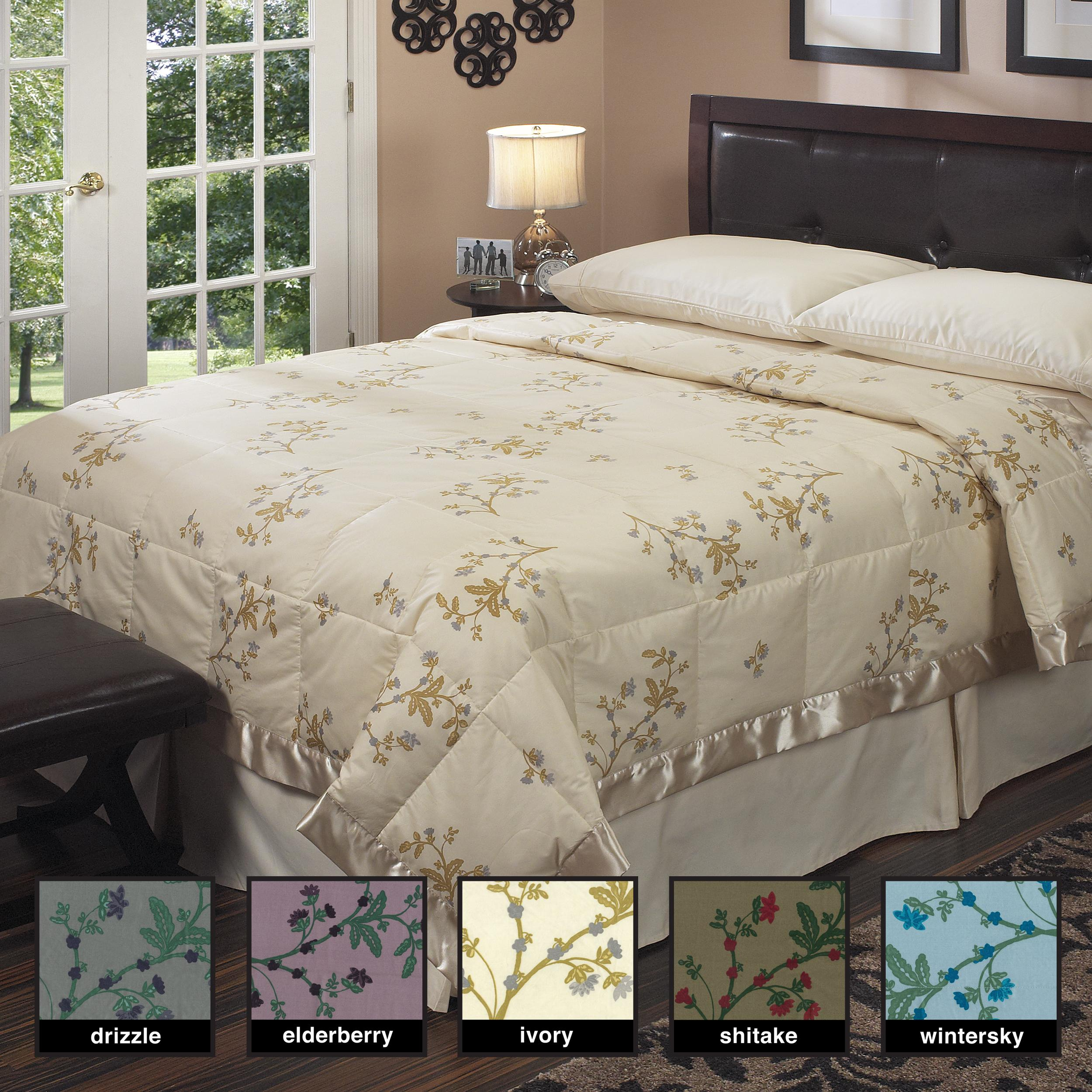 Oversized 350 Thread Count Floral Print Down Blanket
