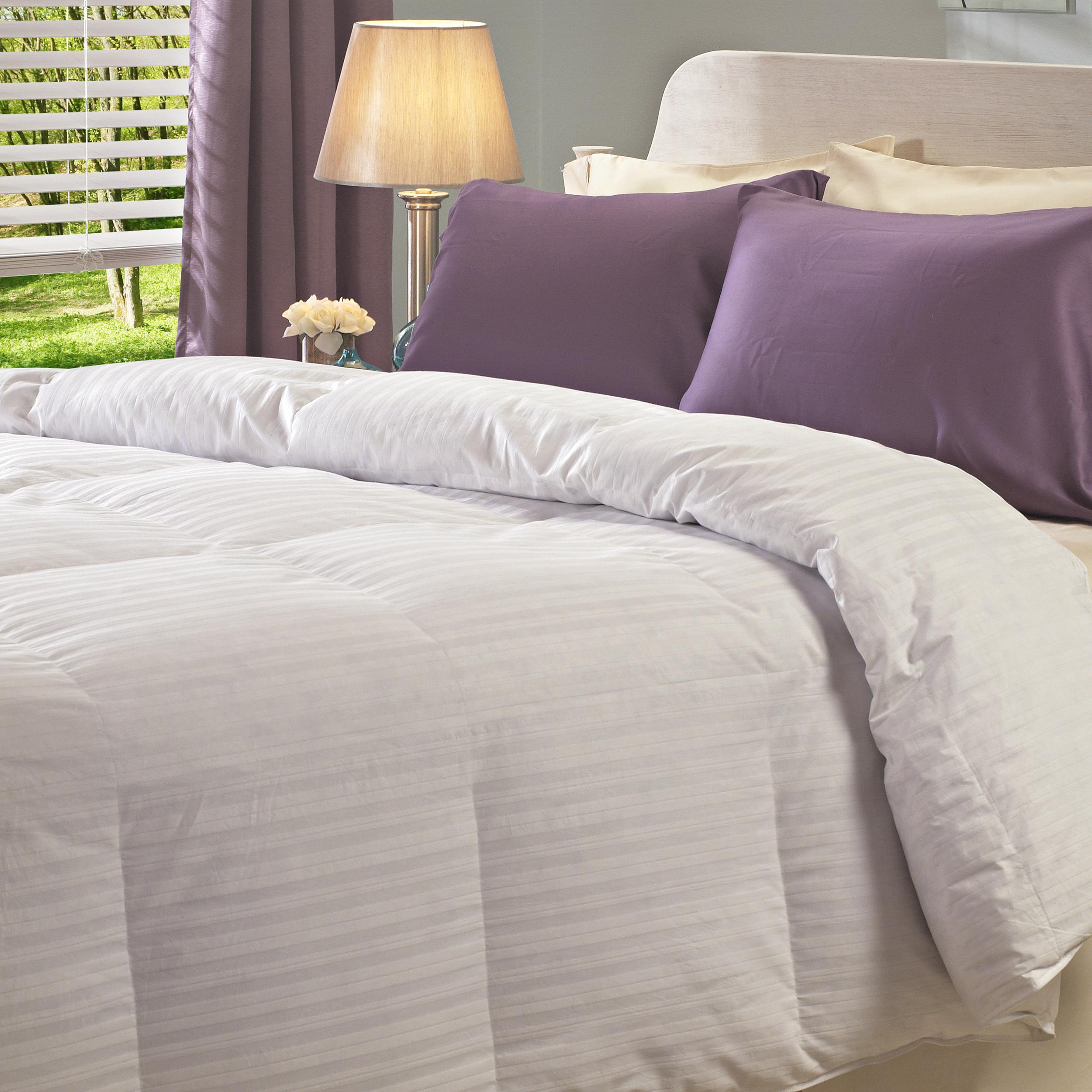oversized 360 thread count baffle box down comforter