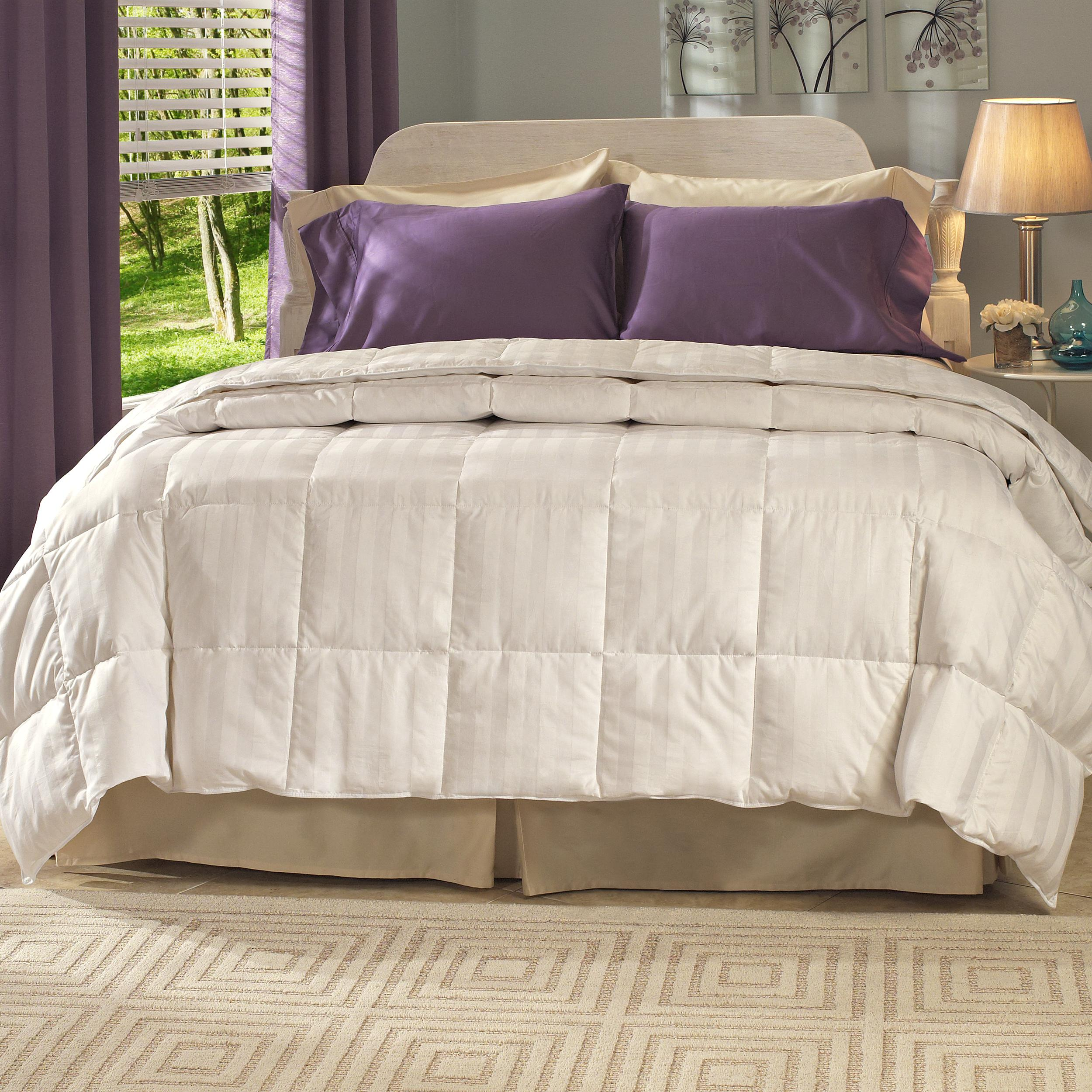 Oversized All Seasons 400 Thread Count 600 Fill Power White Down Comforter