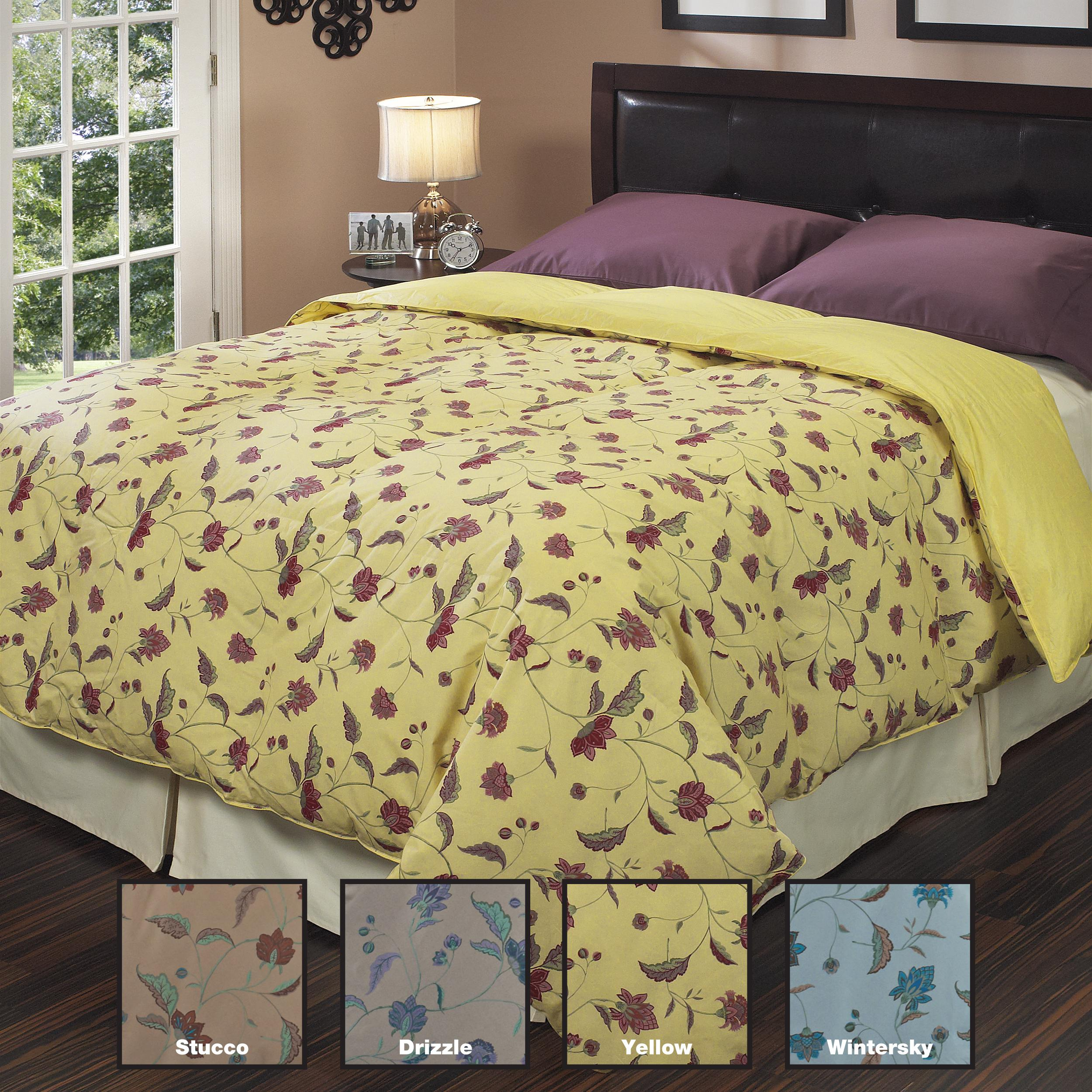 Oversized DuJour Print 300 Thread Count Reversible Down Comforter - Thumbnail 0