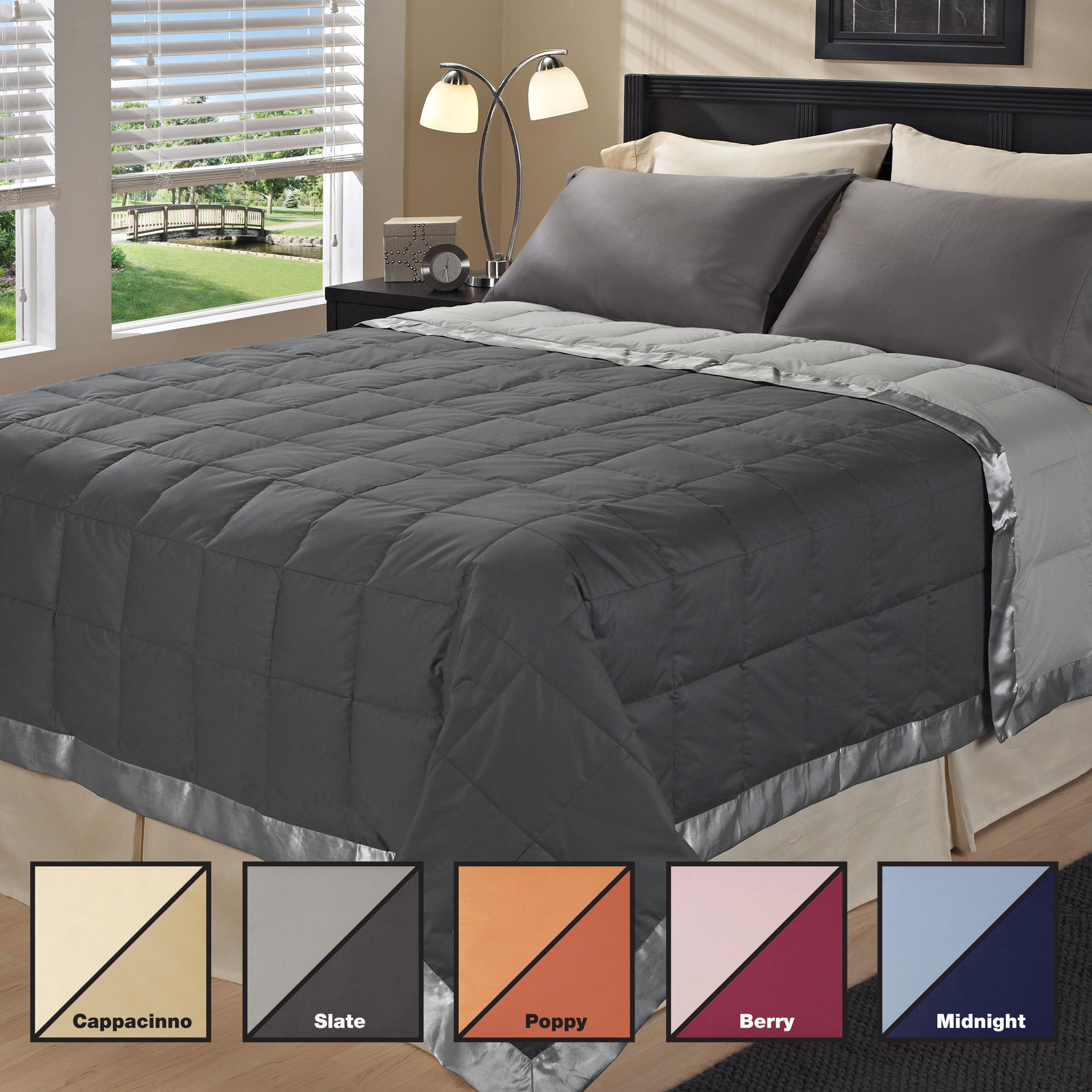 Oversized Reversible 300 Thread Count Luxury Down Blanket