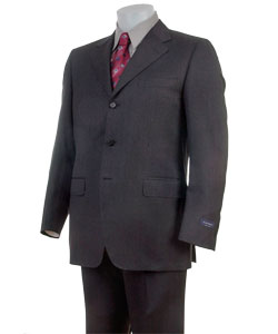 5a80e18dba9 Shop Canali 3-button Big and Tall Dark Grey Two-piece Wool Suit ...
