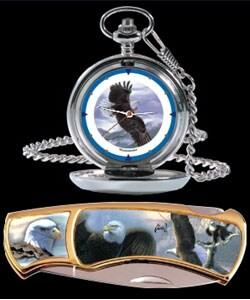 Agnew Eagle Pocket Watch/Knife Combo - Thumbnail 0