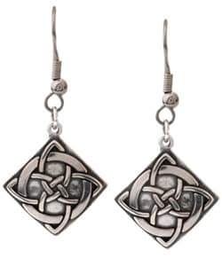 Carolina Glamour Collection Sterling Silver Celtic Vision Knot Earrings