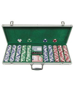 Lucky Crown 500-pc. 11.5g Poker Chip Set - Thumbnail 0