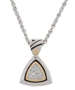 fea8918bcece5 John Atencio Reflections Sterling Silver 1/10-ct. TW Diamond Pendant |  Overstock.com Shopping - The Best Deals on Designer Necklaces