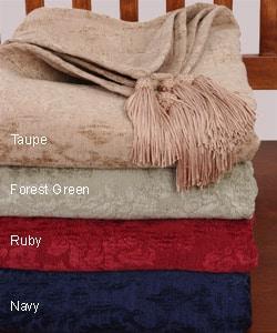 Martha Stewart Jacquard Throw Blanket - Thumbnail 0