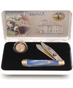 U.S. Mint State Quarter Series Knife/ Coin Set (Iowa) - Thumbnail 0