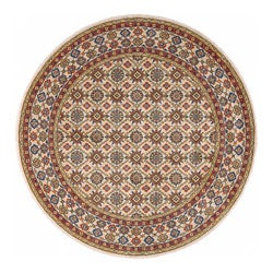 Nourison Graphic Illusions Grey Rug (5'6 x 5'6) Round