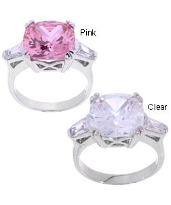 Journee Sterling Silver CZ Fashion Ring (2 colors)