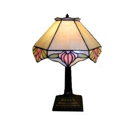 Tiffany-style Simple Rose Table Lamp