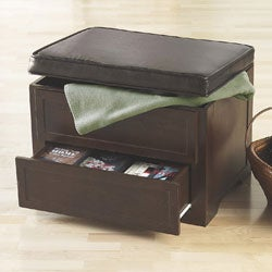 Peachy Espresso Media Storage Ottoman Overstock Com Shopping The Best Deals On Ottomans Gmtry Best Dining Table And Chair Ideas Images Gmtryco