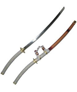 White Jin Tachi 44-inch Samurai Sword - Thumbnail 0