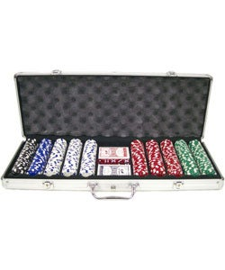 King Pin 500-pc. 11.5g Deluxe Poker Set with Aluminum Case - Thumbnail 0