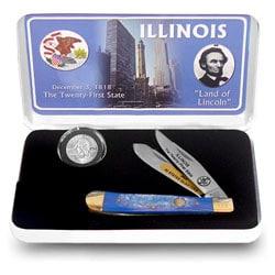 U.S. Mint Illinois State Quarter and Knife Set - Thumbnail 0