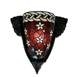 Tiffany-style Red Star Wall Lamp