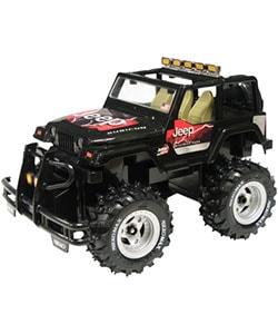 Nikko 1/18 Scale RC Black Jeep Rubicon - Thumbnail 0
