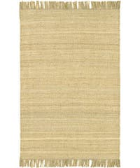Hand-woven Jute Bleached Area Rug - 5' x 7'6