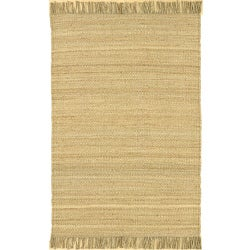 Hand-woven Jute Bleached Area Rug (8' Round)