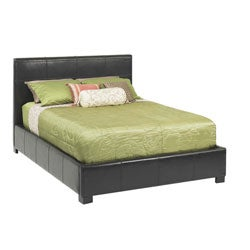 Leather Full-size Lift Storage Bed - Thumbnail 0