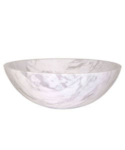 Shop Fontaine Traditional White Marble Bathroom Vessel