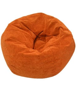 Gold Medal Sueded Corduroy Kid's Orange Beanbag Chair