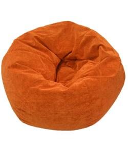 Gold Medal Sueded Corduroy Kid's Orange Beanbag Chair - Multi