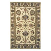 Safavieh Handmade Traditions Tabriz Ivory Wool and Silk Rug - 5' x 8'