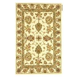 Safavieh Handmade Traditions Tabriz Ivory Wool and Silk Rug (4' x 6')