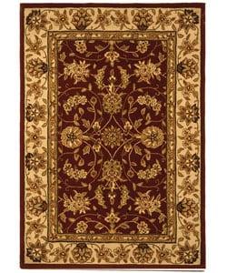 Safavieh Handmade Traditions Tabriz Red/ Gold Wool and Silk Rug (4' x 6')