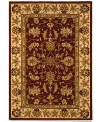 Safavieh Handmade Traditions Tabriz Red/ Gold Wool and Silk Rug - 4' x 6'
